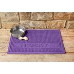 Love your #dog, but not the mess he makes? dogIDs.com has a wide variety of doggie floor mats and dog dish placemats!