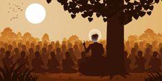 Lord of buddha sermon dharma to crowd of monk , Buddha Background, Budha Art, Tibet, Buddha Artwork, Bodhi Tree, Zen, Thai Art, Goddess Art, Art N Craft