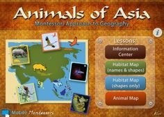 Animals of Asia Montessori Approach to Geography