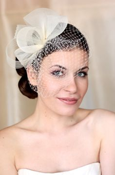 Items similar to Wedding Hat, Couture Bridal Hat. Ivory Bridal Hat, Wedding Birdcage Veil, Wedding Headpiece, Ivory Wedding Fascinator on Etsy Bridal Fascinator, Wedding Fascinators, Bridal Hat, Wedding Hats, Headpiece Wedding, Wedding Veils, Bridal Headpieces, Ivory Wedding, Flapper Headpiece