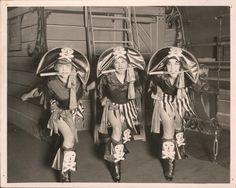 ROARING 20s ART DECO THEATER VAUDEVILLE PHOTO 3 COSTUMED PIRATE PIN-UP GIRLS FUN