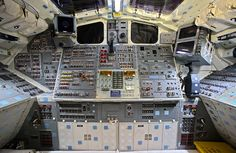 Nice, large photo to use for something. Free with credit given. Space Shuttle Interior, One Small Step, Flight Deck, Large Photos, Space Travel, Space Exploration, Spacecraft, Outer Space, Astronomy
