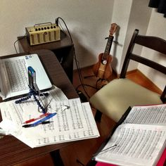 My personal recording studio for ukuleles
