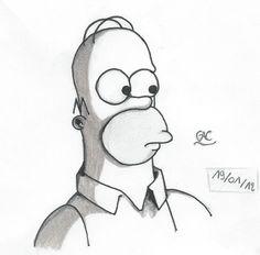 Homer Simpson, Dessin. #Realisation