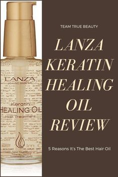 Team True Beauty Blogs: Lanza Keratin Healing Oil Review: 5 Reasons It's The Best Hair Oil -  If you have fine hair like me, oils are typically something we stray away from. They can get heavy and greasy on finer hair textures. Lanza Oil does not. #hairstyles #hairoil #hairstyles #haircolor #haircuts #haircurler #haircare #hair #haircuts #hairclips #haircoloring #orangehair #lanzahaircolor
