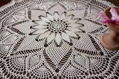 Crochet Round Tablecloth, Crochet Home Decor, Table Centerpiece, Crochet Doilie, Unique Crafts, Gift For Women, Handmade Crochet For Sale