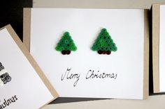 Weihnachtskarten mit Bügelperlen | weberin diy anleitungen