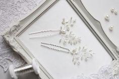 Boda alfileres novia alfileres conjunto de pelo de dos horquillas de novia novia accesorios Brida pedazo del pelo