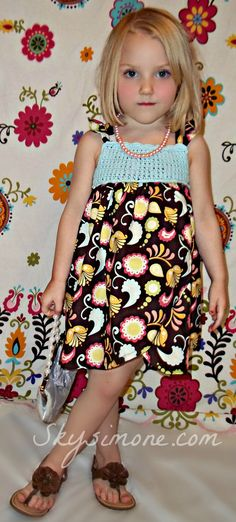 Crochet Summer Dress with Paisley by SkySimone on Etsy,