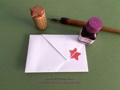 Busta origami e timbro stella diy
