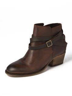 H by HUDSON - belted calf leather short boots