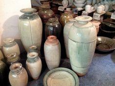 Bottles and jars in Batterham's studio