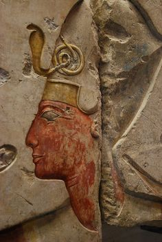 Detail from a relief. King Ramses II among the gods, the relief comes from the small temple built by King Ramses II at Abydos. In the relief Ramesses II is crowned by the goddess Nekhbet in the form of vulture. And Ramses II is introduced with the gods. 19th Dynasty, Abydos