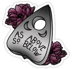 """As Above So Below"" Stickers by piercethekellyn Finger Tattoos, Cute Tattoos, Leg Tattoos, Body Art Tattoos, Sleeve Tattoos, Female Tattoos, Tatoos, Henna Tattoos, Goth Tattoo"