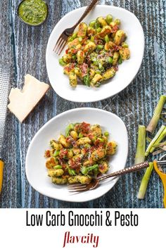 This low carb keto recipe features homemade gnocchi that are light and crispy, tossed in a herby and cheesy pesto sauce. Thi recipe is perfect for Dinner. Low Carb Chicken Recipes, Healthy Low Carb Recipes, Low Carb Keto, Keto Recipes, Cooking Recipes, Lunch Recipes, Dinner Recipes, Diabetic Meals, Healthy Foods