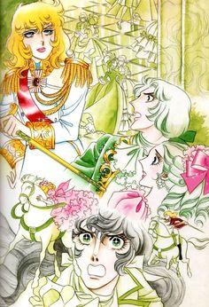 Versailles no bara - Riyoko Ikeda Real Anime, Old Anime, Manga Art, Anime Manga, Illustrations, Illustration Art, Wedding Invitation Wording Examples, Lady Oscar, Vintage Japanese