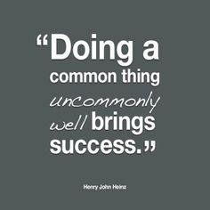 """#ThoughtForThursday: """"Doing a common thing uncommonly well brings success"""" #Quote #Success #REMAXPassion"""