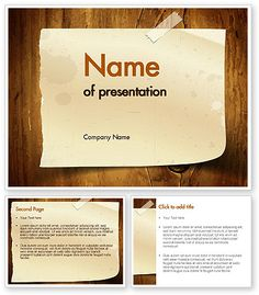 Geometric composition powerpoint template powerpoint templates note paper with adhesive tape powerpoint template publicscrutiny Images