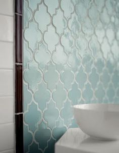 Arabesque tiles.  I would love to have these in my bathroom.