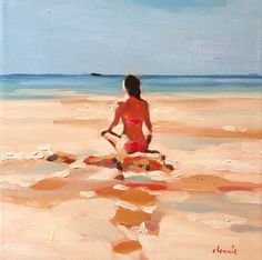 Painting People, Figure Painting, Hipster Drawings, Surf Art, Beach Scenes, Strand, Oeuvre D'art, Painting Techniques, Figurative Art