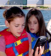 More than a boat ride--students learn to chart and track their course using GPS technology!