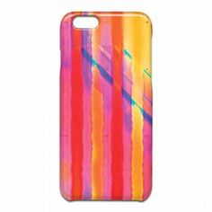 Sunburst Drips iPhone 6ケース #new #watercolor #red #orchid #yellow #stripe on #tech #iPhone #phone #cases for #home #office #gift by #vikkisalmela #polkadotstudio on #Huru Nia.