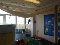 Seaside role play Classroom Displays, Role Play, Valance Curtains, Seaside, Loft, Bed, Furniture, Home Decor, Decoration Home
