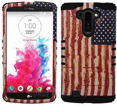 For LG G Vista VS880 Hybrid Dual Layer Impact Cover Case American U.S Flag Black..........I LOVE this phone case!!!!!