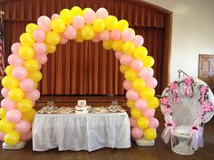 Two color balloon arch