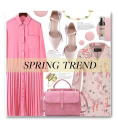 """""""Spring Style"""" by beebeely-look ❤ liked on Polyvore featuring Pippa Small, Giambattista Valli, Nails Inc., Spring, shirtdress, pastels, sammydress and springfashion"""