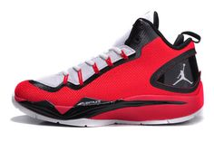 Griffin Shoes in Black White and Red Colorway Air Jordan Super.Fly II PO Nike Brand on Sale