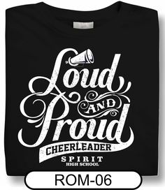 Need cheer shirts, but you're on a tight budget? Try a single color design! Also a great idea if you want to offer an array of shirt colors to your team! Spiritwear.com