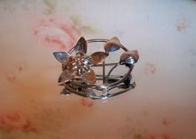 Vintage Sterling Silver Flower Brooch, $25 Free US shipping