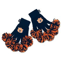 NCAA Spirit Fingerz All-in-One Pom Pom Gloves - Auburn