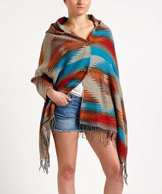 Southwest Inspired Poncho Sweater