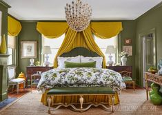 Master bedroom designed by Melanie Turner at the 2017 Southern Style Now Showhouse Will Turner, Greek Revival Home, Bedroom Decor On A Budget, Natural Bedding, Chinoiserie Chic, Bedroom Sets, Master Bedroom, Girls Bedroom, Master Suite