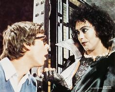 Barry Bostwick and Tim Curry in The Rocky Horror Picture Show directed by Jim Sharman, 1975