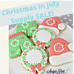 """Dotty - Cookier Coach on Instagram: """"Christmas in July Cookie Supply Sale! 🎄 It's never too early to start thinking, right? 😂 🎄 What sold well for you last Christmas? 🎄 This…"""" Christmas In July, Christmas Cookies, Instagram Christmas, Cookie Decorating, Sugar, Desserts, Food, Xmas Cookies, Tailgate Desserts"""