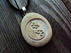 Yin yang. Engraved stones. Engraved Pendant. Cat by SeaStoneFrog  Two sides engraving available You can add a special date, a word or a name on the back side of this pendant for only $8 extra.  #paw #pet #dog #cat #love #engraved