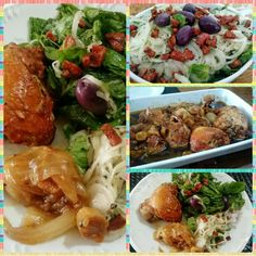 Frango com gengibre e shoyo e uma salada de espinafre incrível