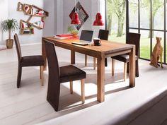 Der massive Esstisch aus FSC zertifizierte Wildeiche überzeugt durch ein zeitloses Design. Er ist in verschiedenen Breiten erhältlich und läßt sich optional mit Ansteckplatten verlängern. Bestellen Sie diese gleich mit.   Details:  In verschiedenen Größen, Pflegeleichte Oberfläche, rechteckige Tischplatte, Das Holz ist Wildeiche, gebürstet.,  Maße:  (T/H) ca. 90/75 cm, 75 cm Tischhöhe, 4 cm sta...
