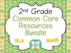 2nd Grade Common Core Resources Bundle - Math & ELA