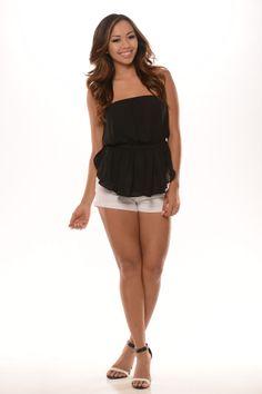 Tube Layer Chiffon Crop Top (Black) - $19.99 #FashionNova #Black #Top
