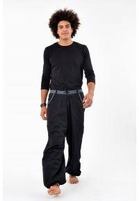 Pantalon homme Pradip Noir et gris - K1281 - 100% coton épais du Népal. Idéal pour l'hiver ou la mi-saison.