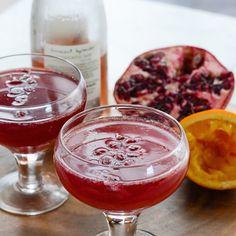... pomegranate juice, blood orange juice, sparkling wine, orange slices