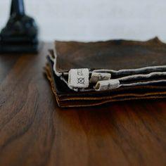 Leather×Linen coaster @irodorco Instagram photos -★- #home #interiors #décor