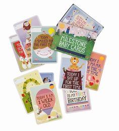 Originele set 30 Milestone Baby Cards ENG