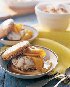 Walnut Dacquoises with Honey-Walnut Ice Cream Recipe