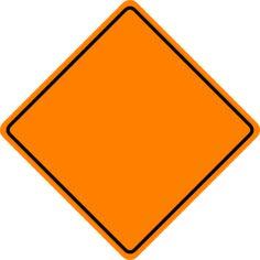 Orange Construction Sign clip art