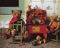 stuffed teddy bears. this picture is by Mirja De Vries.: